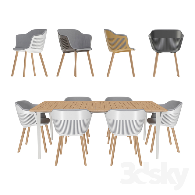 DEDON / Table And Chairs The Aiir Collection