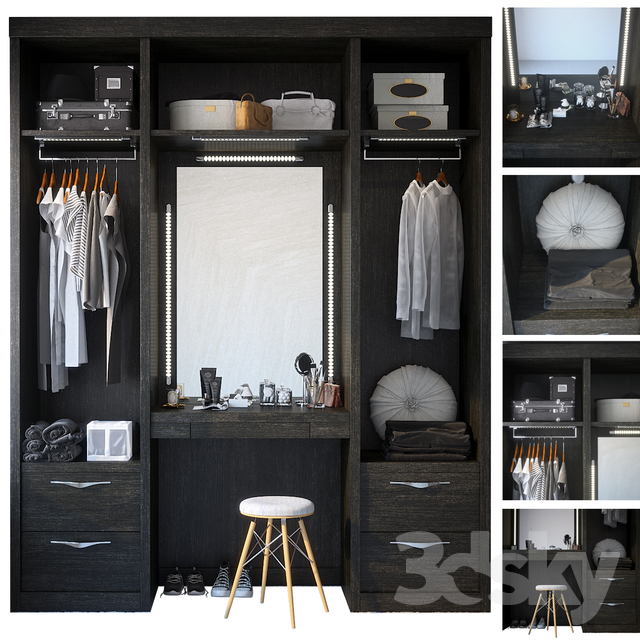 Wardrobe with dressing table