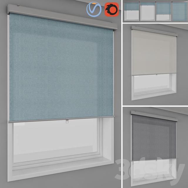 3d models curtain roller blinds ikea tretur and window. Black Bedroom Furniture Sets. Home Design Ideas