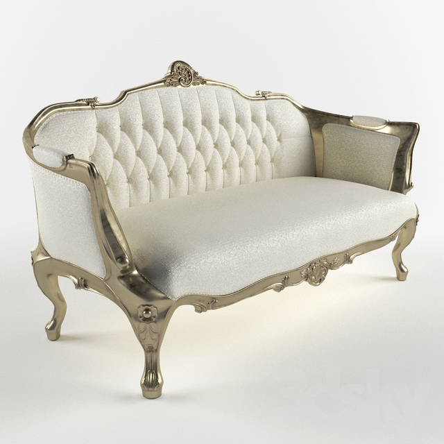 3d Models Sofa Gironde Sofa Gold Antique By La Maison