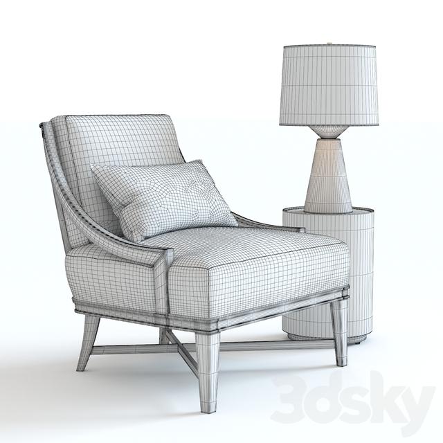 3d Models: Arm Chair   Baker Nob Hill Lounge Chair