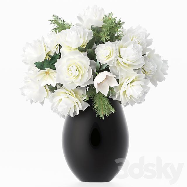 3d Models Bouquet Bouquet Of Flowers In A Vase 27