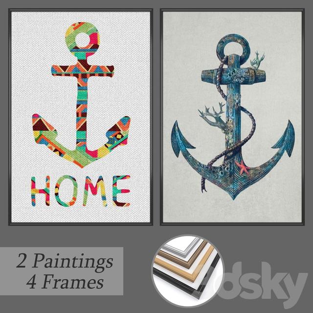 Set of wall paintings No 152