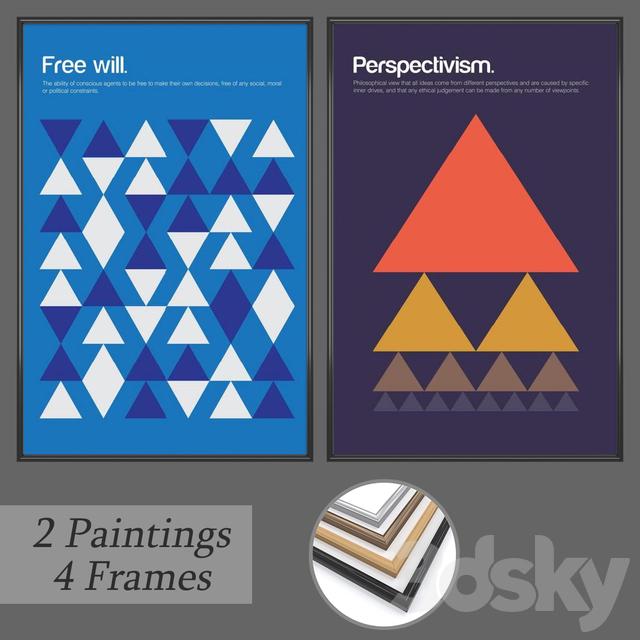 Set of wall paintings No 156
