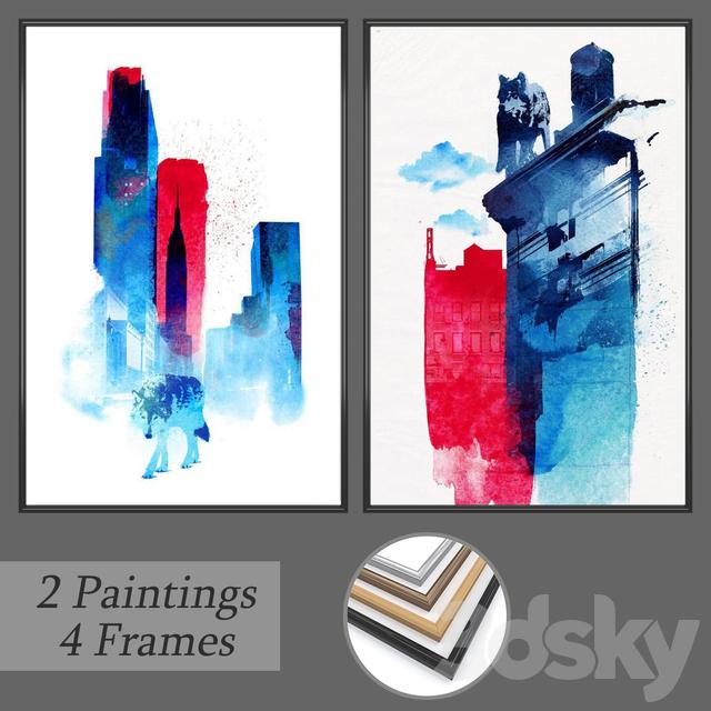 Set of wall paintings No 159