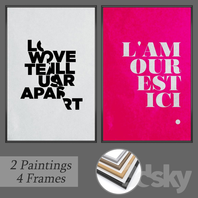 Set of wall paintings No 164