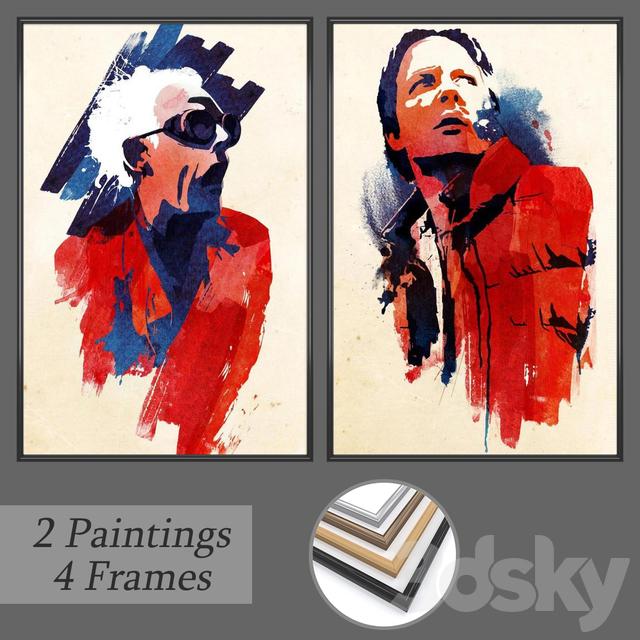 Set of wall paintings No 168