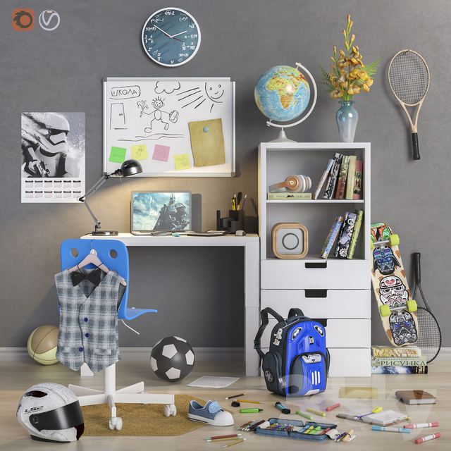 """Furniture and accessories for the children's room """"Back to School"""""""