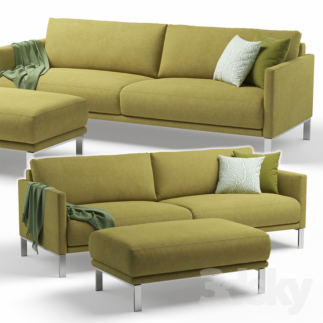 3d Models Sofa Rolf Benz Cara Sofa 2 Seater