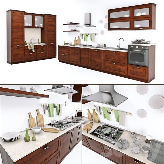 3d models: Kitchen - Kitchen CUCINE LUBE Claudia
