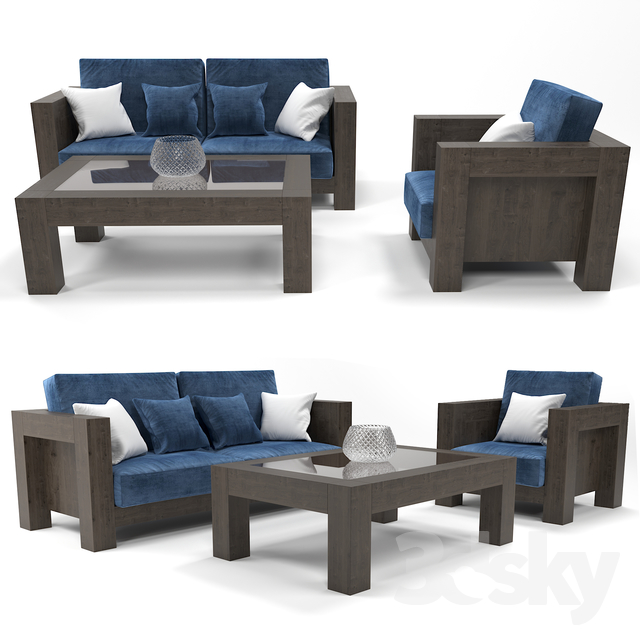 Modern Wooden Sofa Table With Coffee