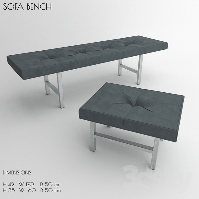 3d Models Other Soft Seating Sofa Bench