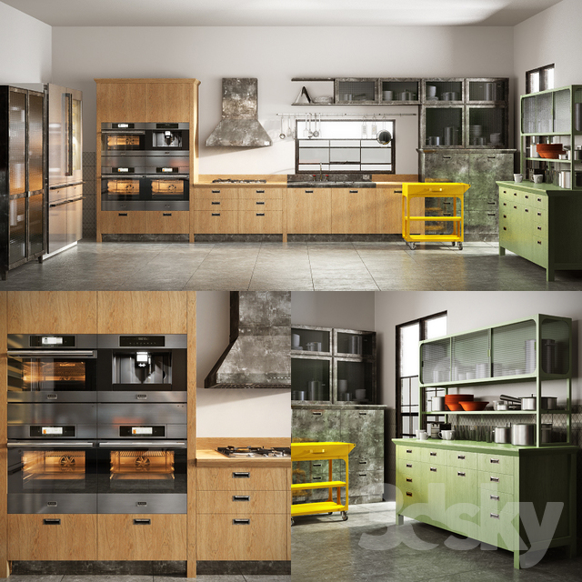 3d models: Kitchen - Scavolini diesel social kitchen 001
