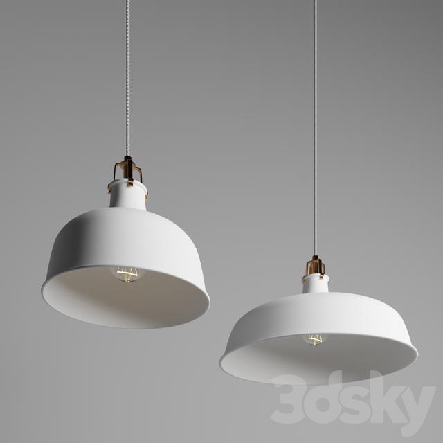 Ranarp Pendant Lamp Black 38 Cm: 3d Models: Ceiling Light