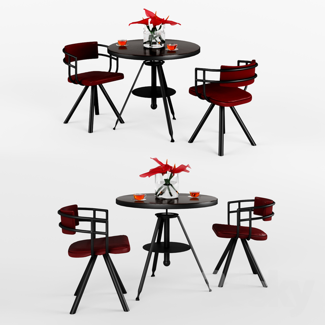 Austin powers Table & Chair 3d model