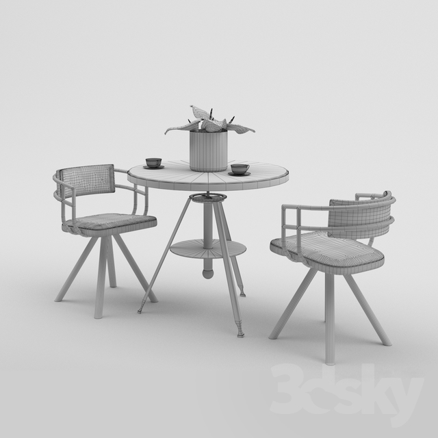 3dSkyHost: Austin powers Table & Chair 3d model