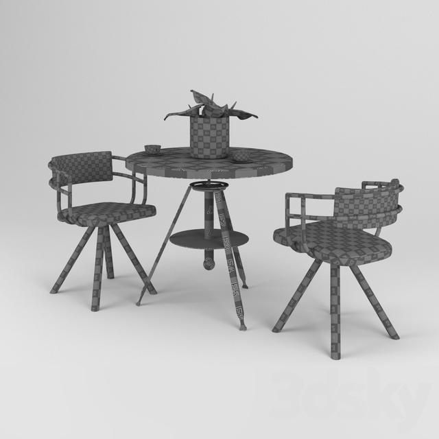 Austin powers Table & Chair 3d model