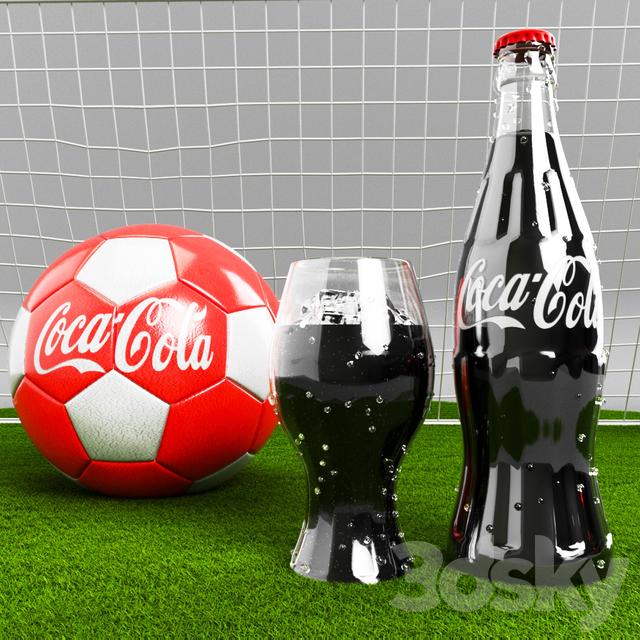 3d models: Sports - Football and Coca-Cola