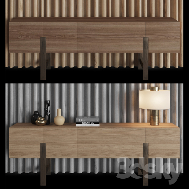 3d models: Sideboard & Chest of drawer - Chest and panel ...