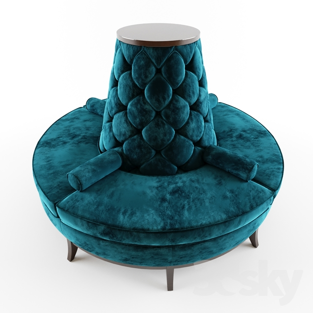 3d Models Other Soft Seating Circle Banquette Settee Lobby Sofa
