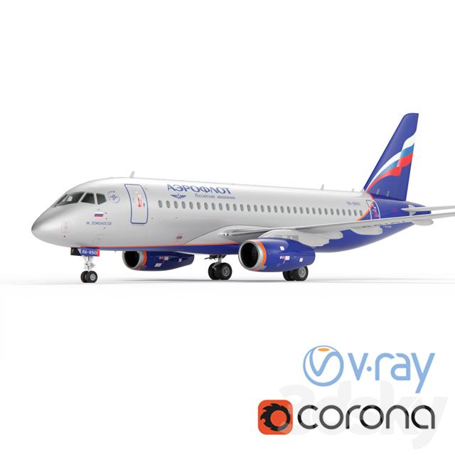 Aircraft SSJ-100 Aeroflot