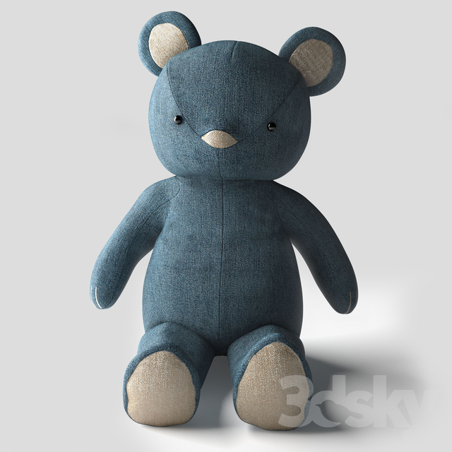 Pottery Barn Kids Denim Teddy Bear