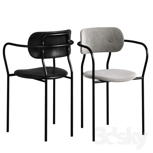 uk availability d3442 b9b6f 3d models: Chair - GUBI Coco Dining Chair With Armrest