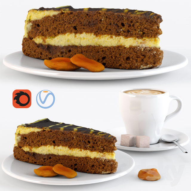 Cappuccino with cake