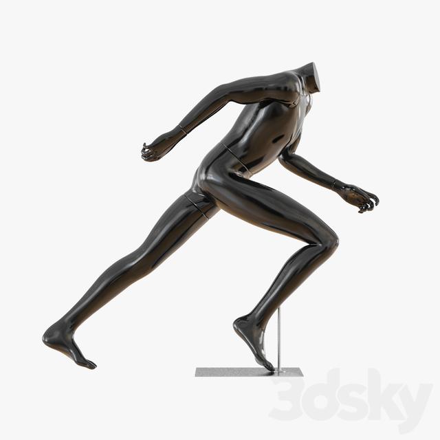 Black mannequin running 26