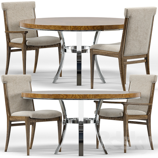 Westwood Chairs, Bernhardt Soho Round Dining Table