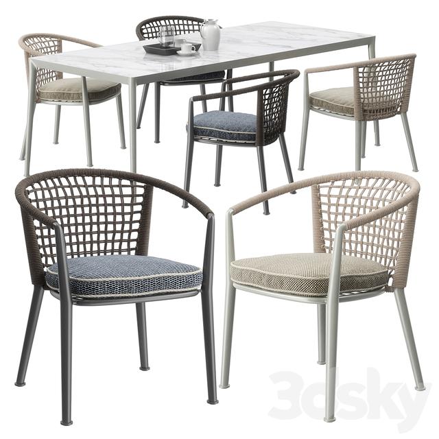 B & B Italia Outdoor ERICA '19 chairs set