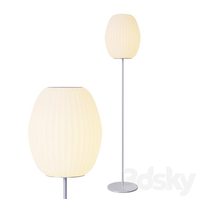 3d Models Floor Lamp Nelson Cigar Floor Lamp Brushed Base