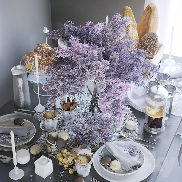 Table setting 28. Lilac table setting