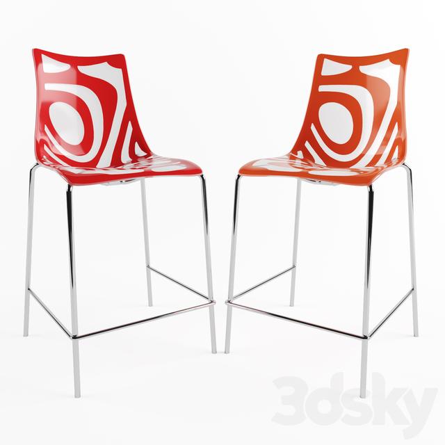 Wave bar stool