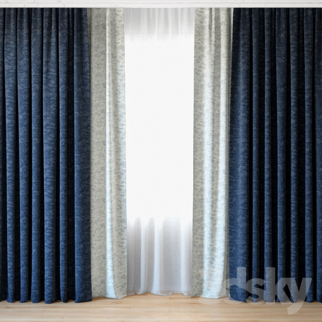 Curtains 44 | Curtains with tulle