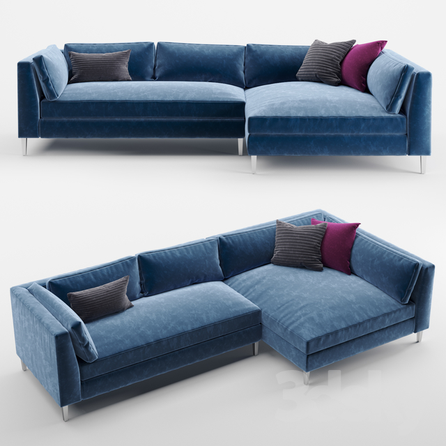 Superb 3D Models Sofa Cb2 Decker 2 Piece Blue Velvet Sectional Sofa Pabps2019 Chair Design Images Pabps2019Com