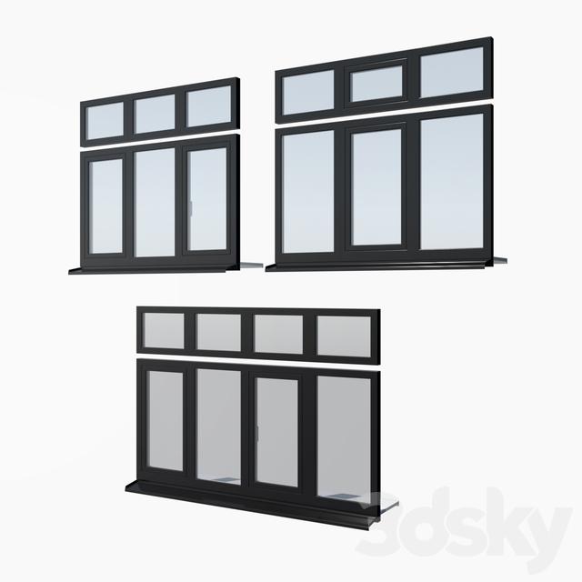 Schuco AWS 65 aluminum windows - set 2