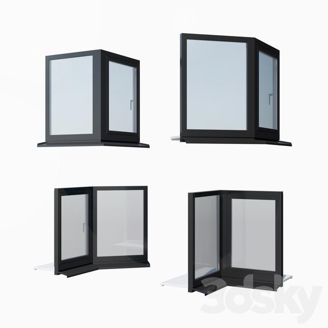 Schuco AWS 65 aluminum windows - set 3