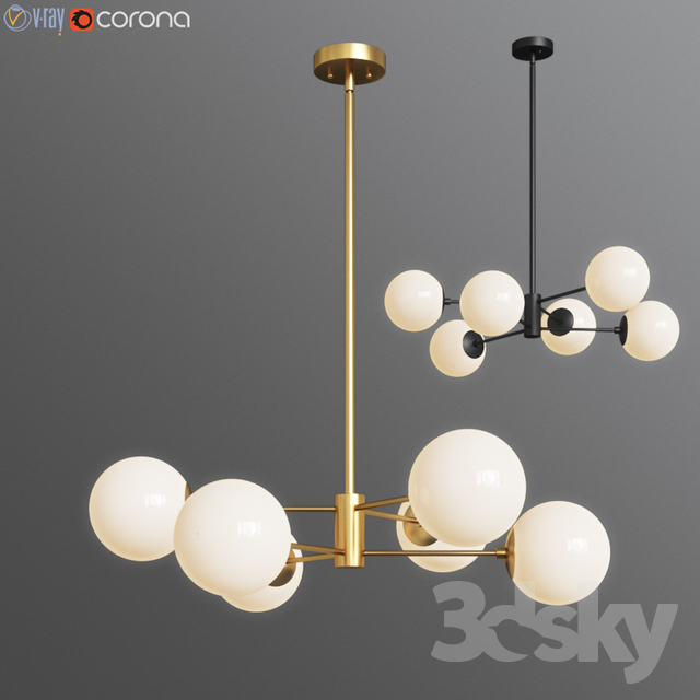 Models Ceiling Light Bellago 6 Chandelier Allmodern