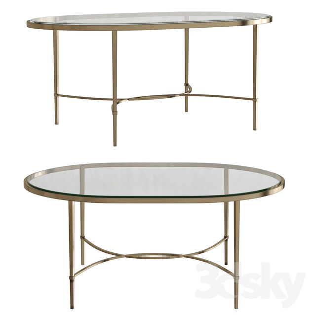 a847412d4323 3d models  Table - Oval Coffee Table
