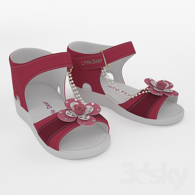 3d models: Clothes and shoes - Kids sandals