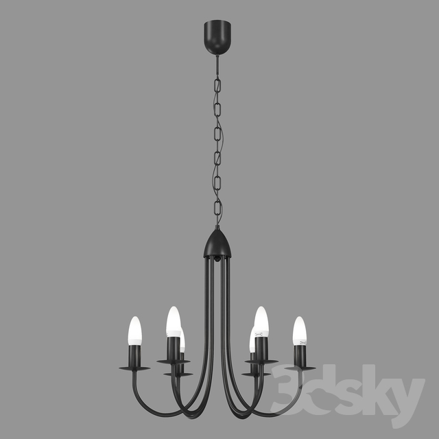 3d Models Ceiling Light Chandelier Ikea Lightning