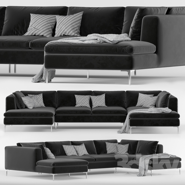 size 40 75d9a 47c2d 3d models: Sofa - Sofa Monterosso Right Hand Facing Corner