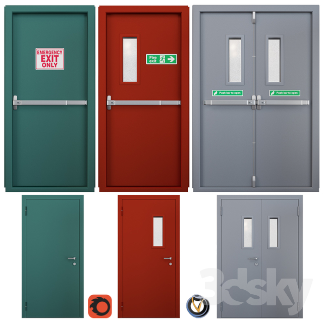 Fire door 3 (3 pcs.)