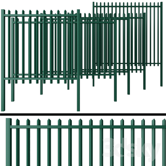Fence for gates and gates