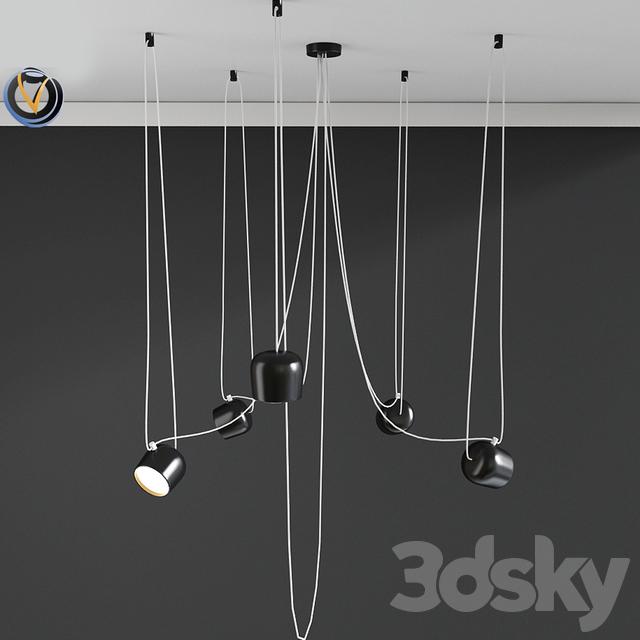 3d models: Ceiling light - lighting 5 Hanging Light
