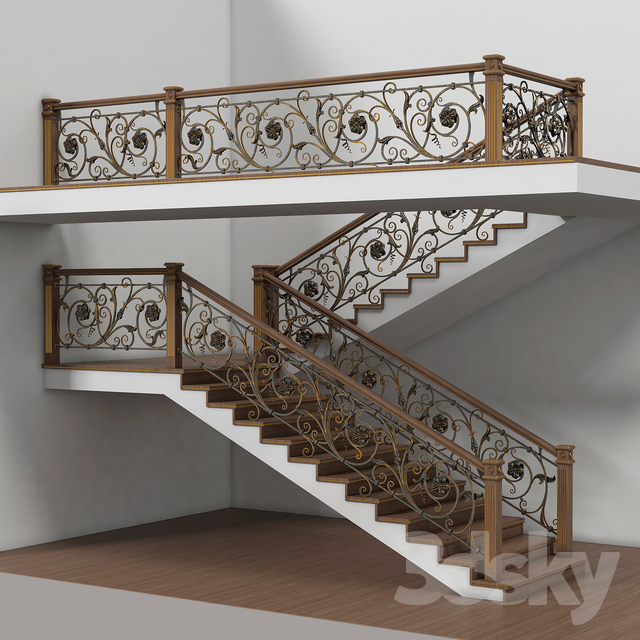 wooden stairs 005