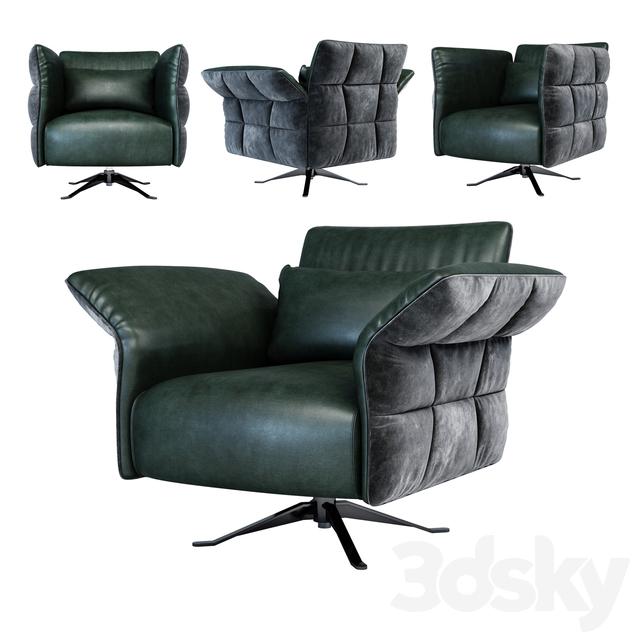 Cierre Eva Due armchair swivel star base