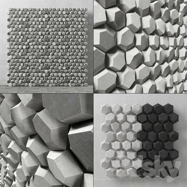 Panel decorative hexagon / Panel of hexagons