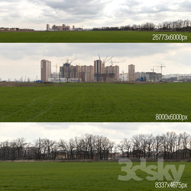 Panorama with construction skyscraper. Krasnodar